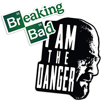 Breaking bad logo clipart svg royalty free download Amazon.com: Popfunk Breaking Bad I Am The Danger and Logo ... svg royalty free download