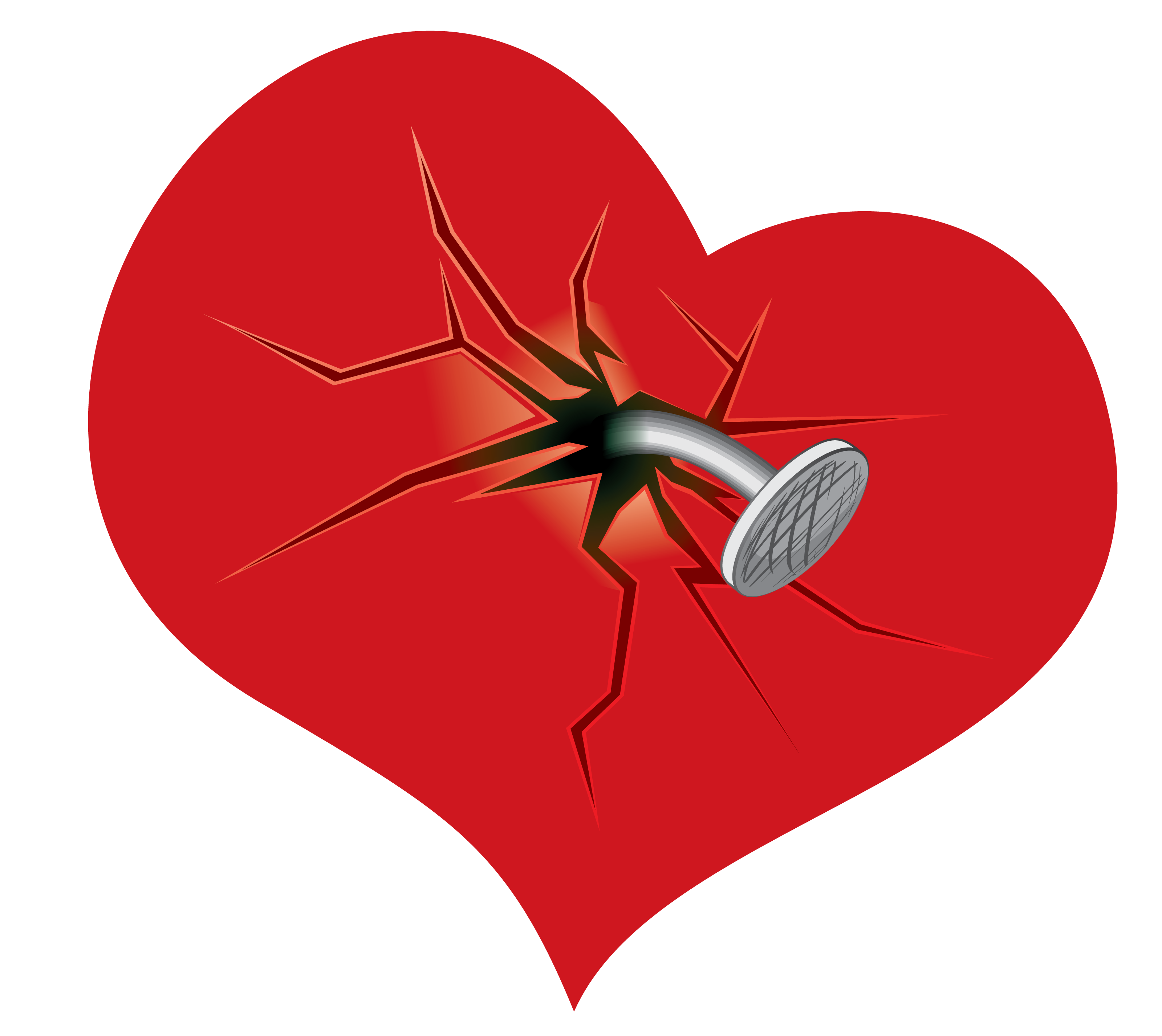 Heart break clipart image royalty free Broken Heart PNG Picture Clipart | Gallery Yopriceville - High ... image royalty free
