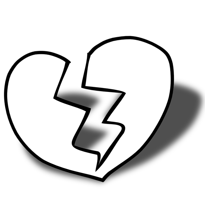 Breaking heart clipart picture freeuse Broken Heart Images Black And White | Siewalls.co picture freeuse