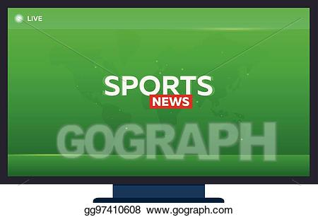 Breaking news banner clipart vector freeuse stock Clip Art Vector - Mass media. sports news. breaking news banner ... vector freeuse stock