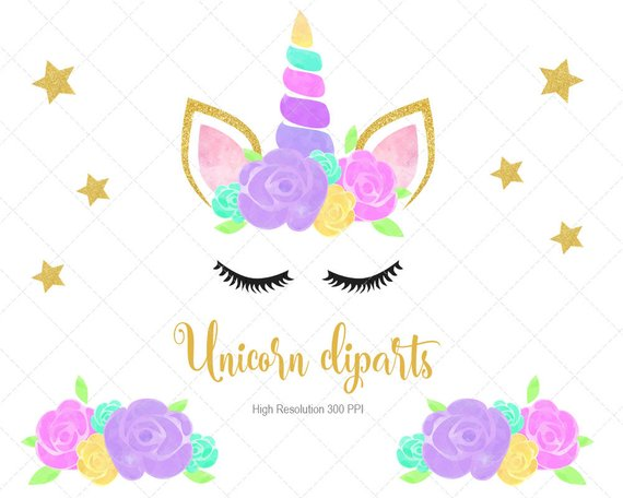 Breard clipart svg library stock Watercolor Unicorn Clipart, Unicorn PNG file, Unicorn Watercolor ... svg library stock