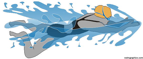 Breaststroke swimming clipart