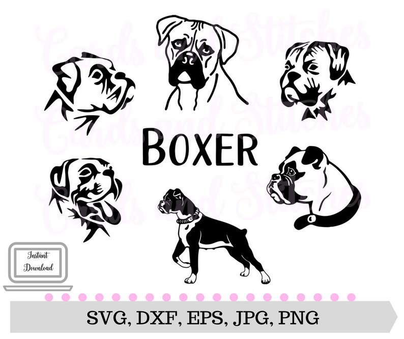 Breed clipart png royalty free library Boxer Dogs SVG Silhouettes Breed Clipart Etsy Stunning Dog Qualified ... png royalty free library