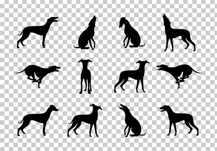 Breed clipart svg black and white Whippet Greyhound Silhouette Dog Breed PNG, Clipart, Animals, Art ... svg black and white