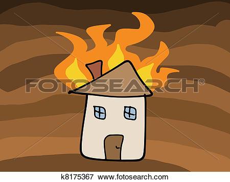 House fire clip art. Brennendes haus clipart