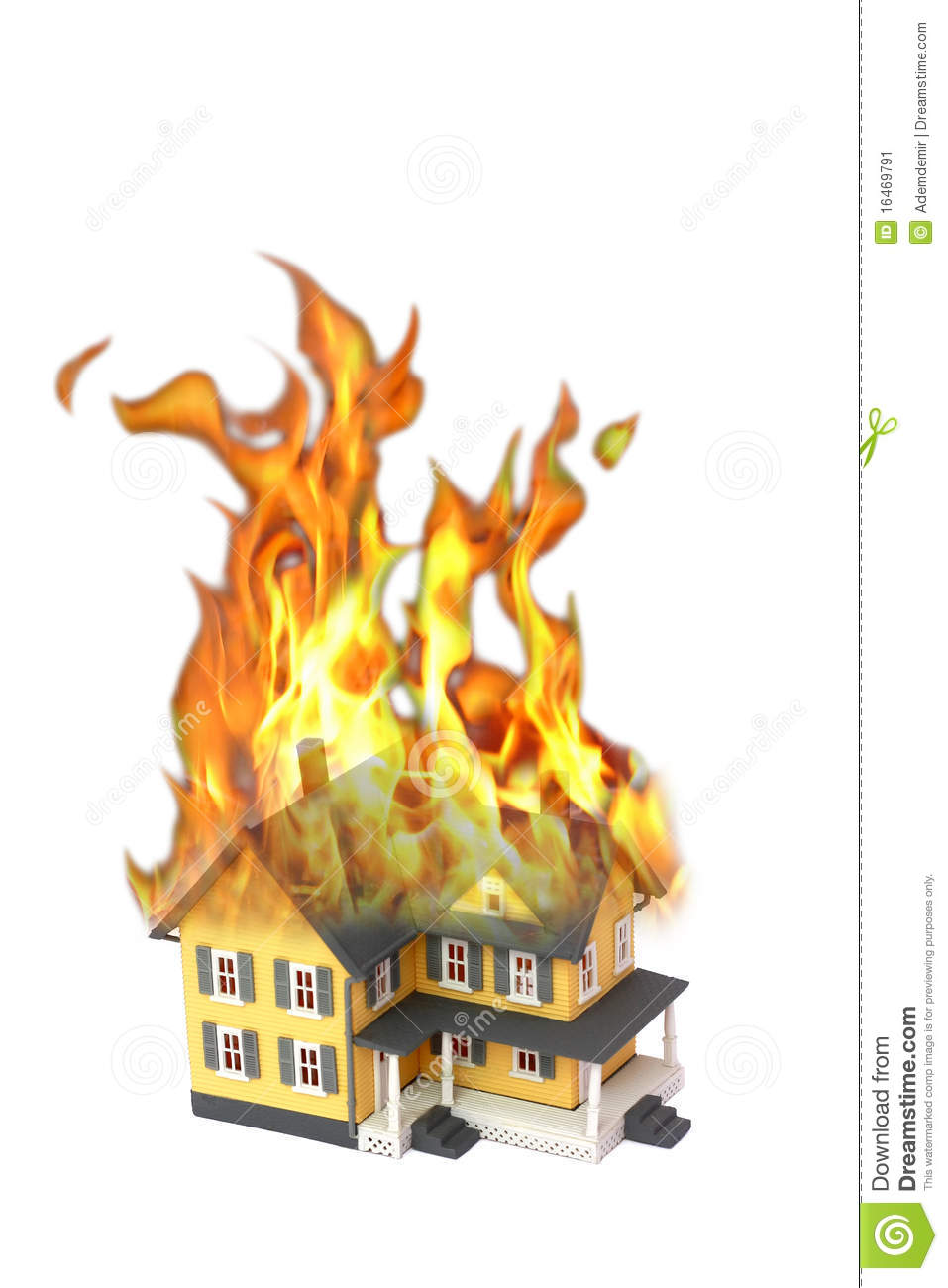 Brennendes haus clipart. Clipartfest burning house isolated