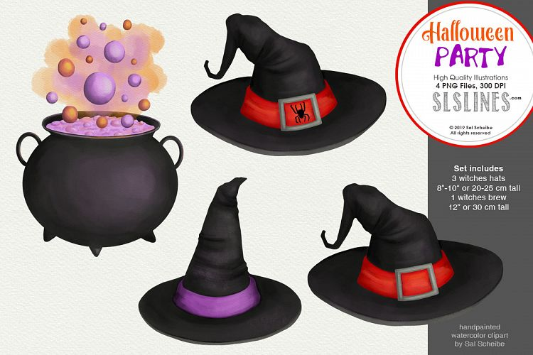 Brew clipart image free stock Halloween Party, Witches Hat & Brew Clipart PNG image free stock