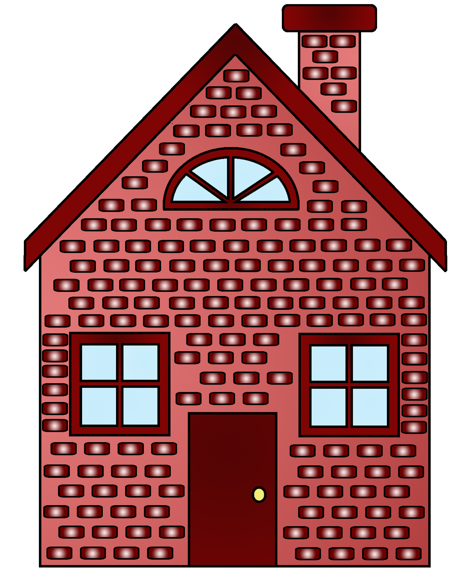 Brick house clipart black and white vector library library 28+ Collection of Red Brick House Clipart | High quality, free ... vector library library