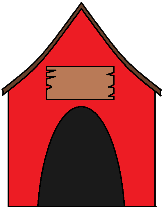 House with sign clipart free