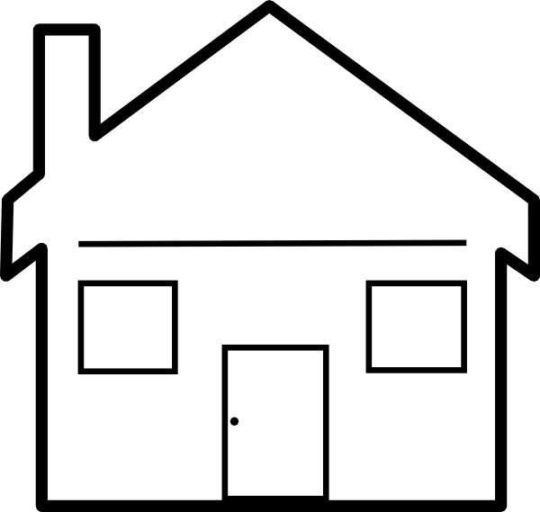 Brick house clipart black and white svg royalty free download Habitat House Clip Art at Clker.com - vector clip art online ... svg royalty free download