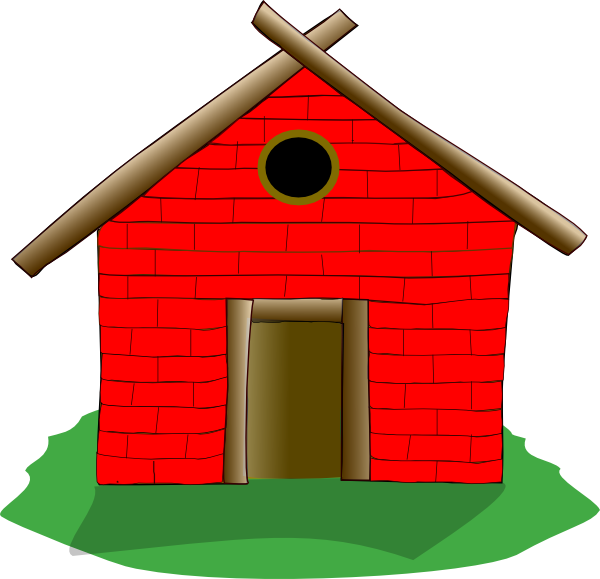 Brick house clipart black and white image transparent Red Brick House Clipart image transparent