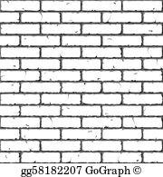 Brick wall clipart clip stock Brick Wall Clip Art - Royalty Free - GoGraph clip stock