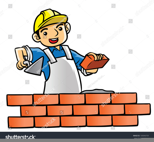 Bricklayer clipart graphic royalty free Bricklayer Clipart | Free Images at Clker.com - vector clip art ... graphic royalty free