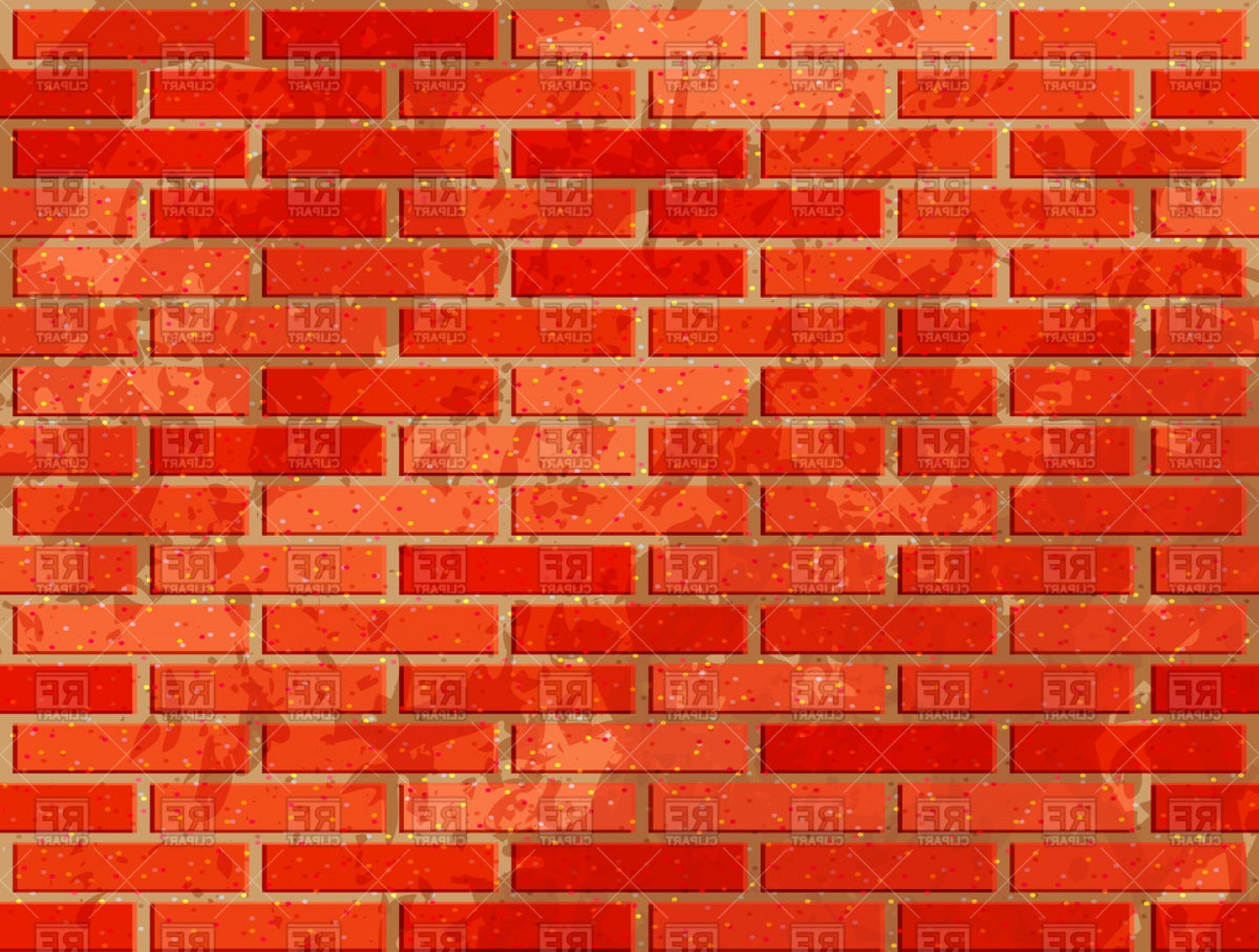 Bricks vector clipart png free library Red Brick Wall With Noise Textures Vector Clipart   SOIDERGI png free library