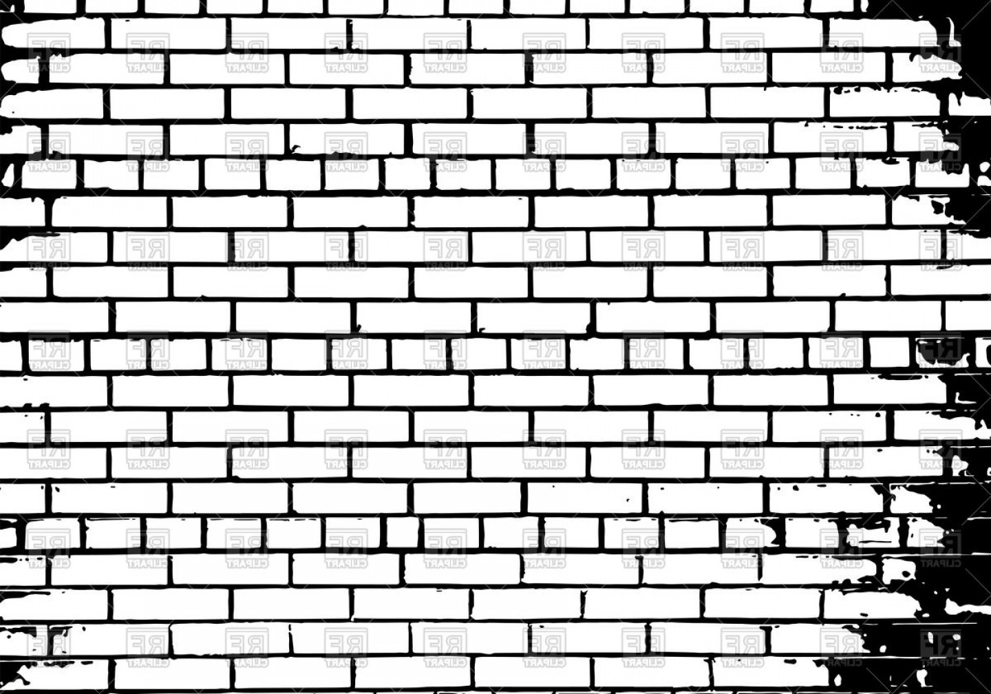 Someone looking over wall vector clipart black and white graphic royalty free Grunge White And Black Brick Wall Background Vector Clipart | SOIDERGI graphic royalty free