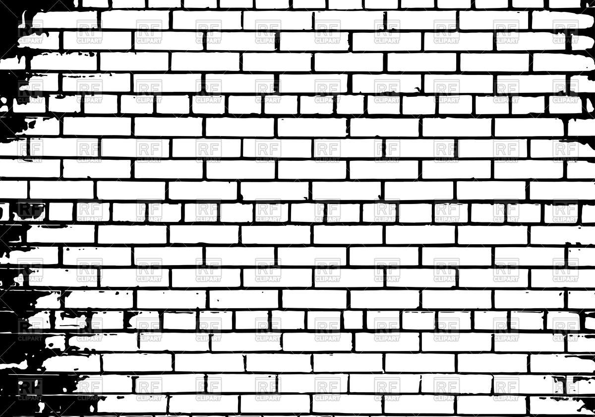 Bricks vector clipart svg royalty free Wall clipart Inspirational Grunge white and black brick wall ... svg royalty free