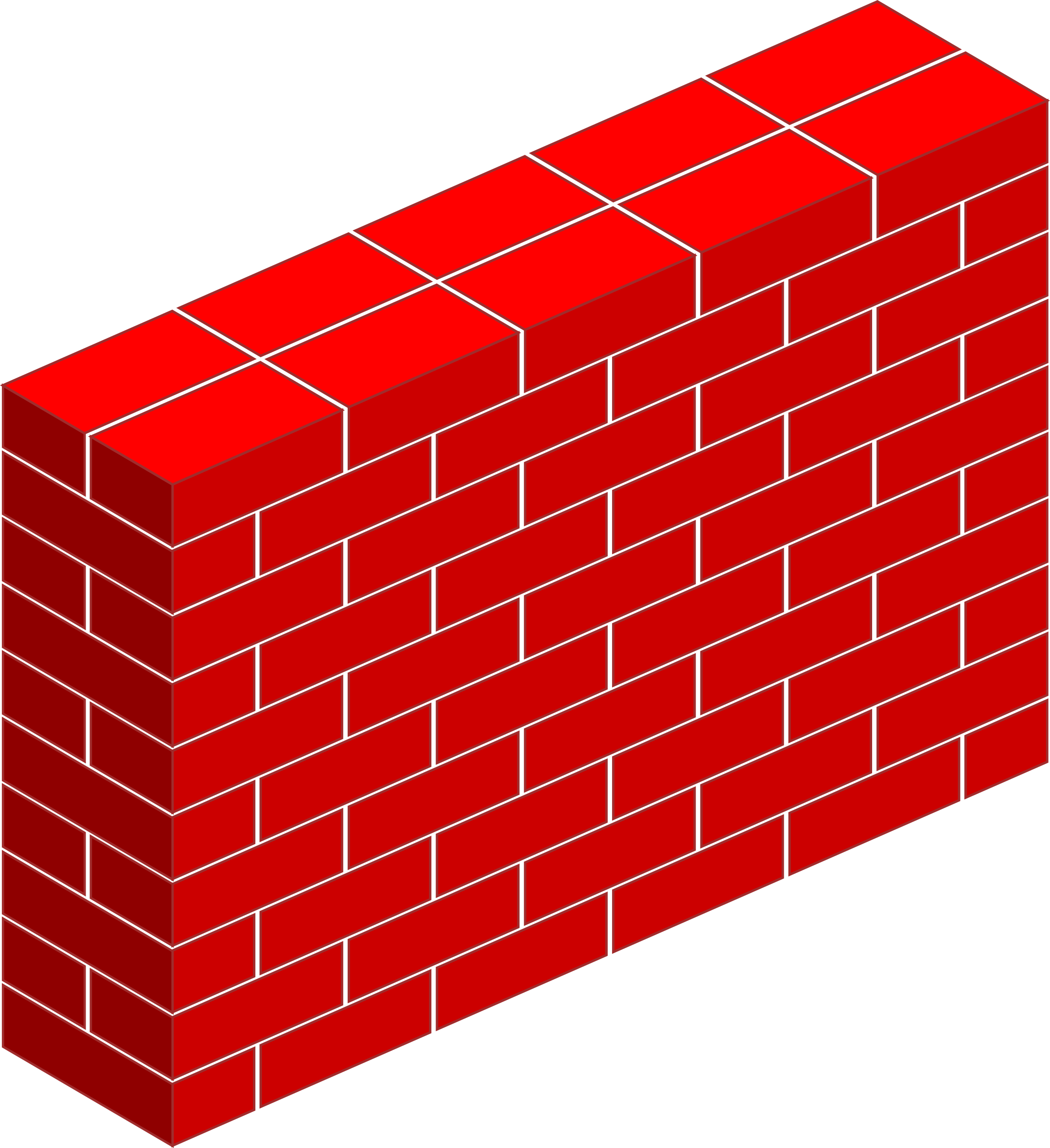 Wall clipart public domain svg royalty free download Red Brick Wall Vector Clipart image - Free stock photo - Public ... svg royalty free download