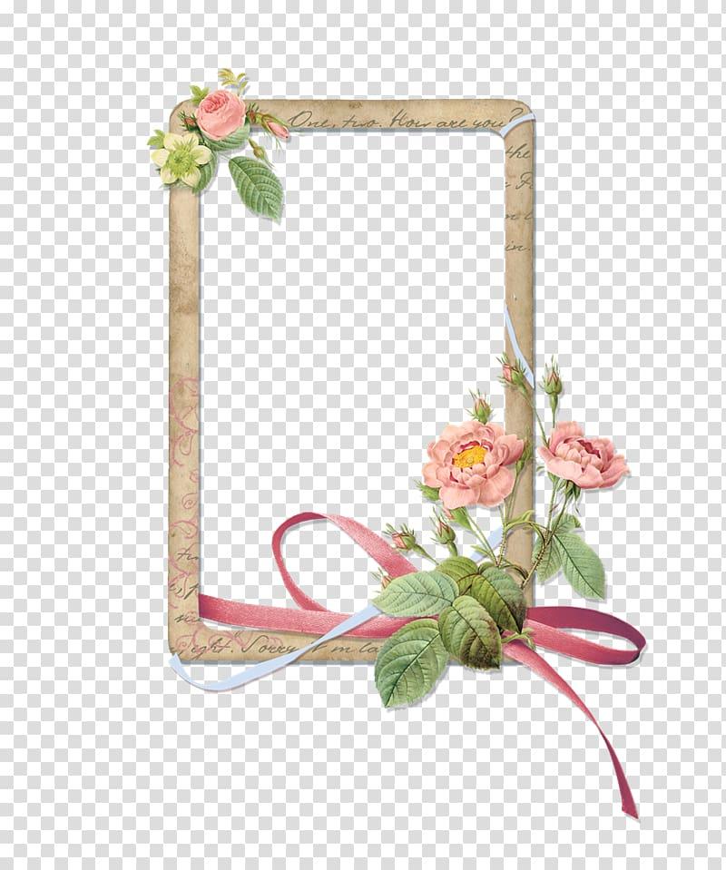 Bridal craft clipart banner transparent download Brown, pink, and green floral border, Wedding invitation Template ... banner transparent download