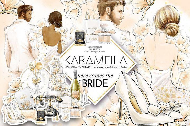 Bridal craft clipart