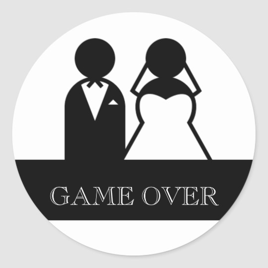 Bridal game clipart picture library library Game Over Bride Groom Clipart Wedding Stickers picture library library