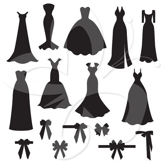 Bridal gown silhouette clipart free stock Wedding Dress Silhouette Clip Art Gown Clipart 1 Creative Local 15 ... free stock