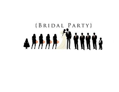 Bridal party silhouette clipart clip royalty free stock Wedding Party Silhouette Clip Art Program 400x400 1366228718652 ... clip royalty free stock