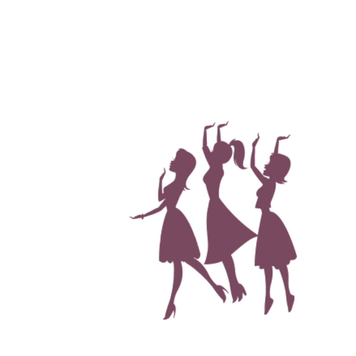 Bridal party silhouette clipart png library download Bridal Party Silhouette Clip Art Free Bridesmaid Clipart - Free Clipart png library download