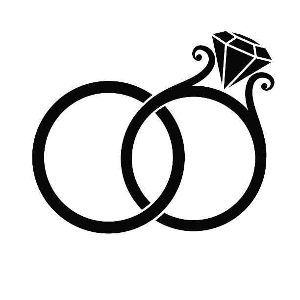 Marriage ring clipart picture royalty free stock Linked Wedding Rings Clipart | Free download best Linked Wedding ... picture royalty free stock