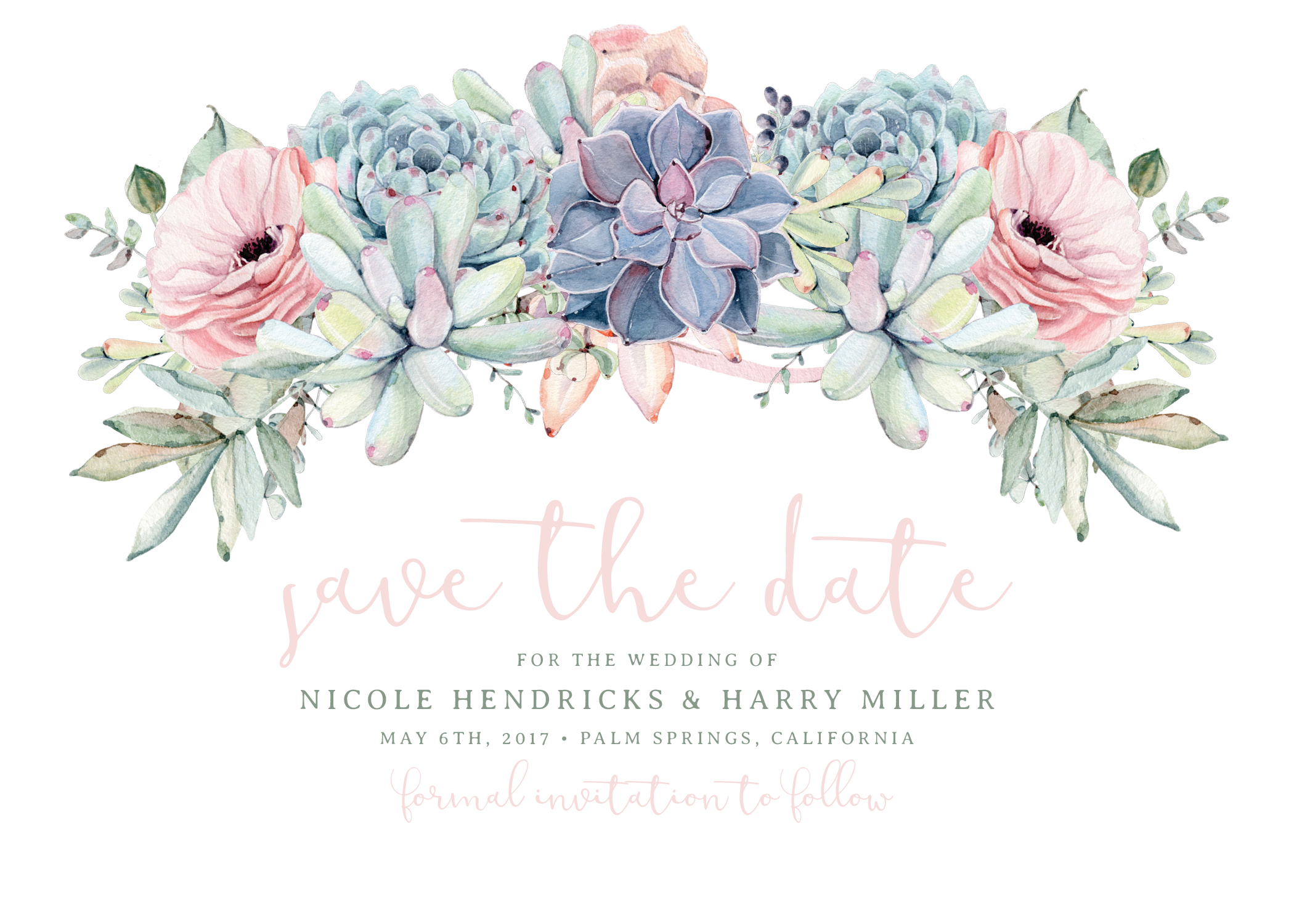 Bridal shower flower clipart vector royalty free stock Sweet Succulents Save The Date - Rose   Sweet Succulents   Pinterest ... vector royalty free stock