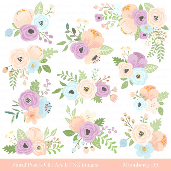 Bridal shower flowers clipart vector library library Flower Clipart \