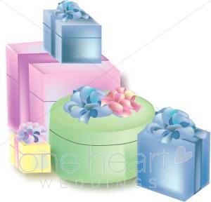 Bridal shower gifts clipart transparent Wedding Presents Clipart   Wedding Gift Clipart transparent