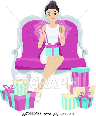 Bridal shower gifts clipart clipart library library Vector Art - Bridal shower gifts. Clipart Drawing gg70630583 - GoGraph clipart library library