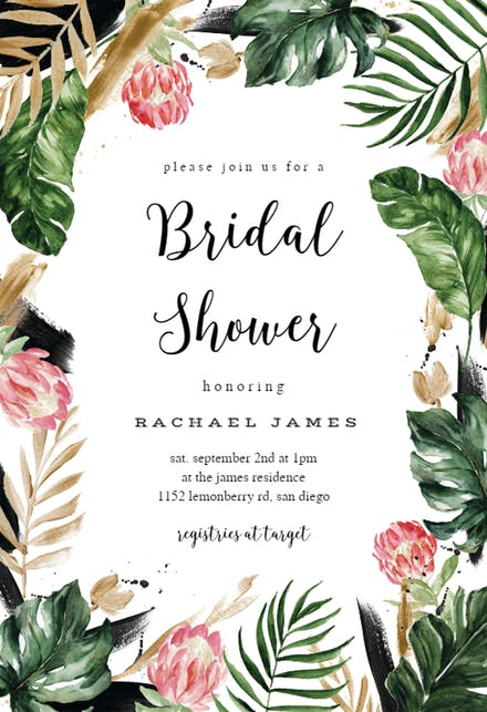 Bridal shower hawaii clipart banner royalty free library Bridal Shower Invitation Templates (Free) | Greetings Island banner royalty free library