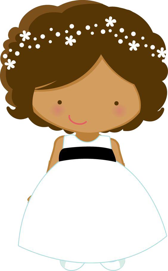 Clipart hair flower banner black and white stock Flower girl Wedding Bride Page boy Clip art - Cartoon little girl in ... banner black and white stock