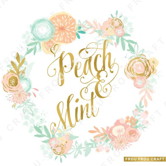 Bride and groom clipart blush & mint clipart clipart stock Peach Mint Flowers ClipArt Intant Download Digital Blush Pink Sage ... clipart stock
