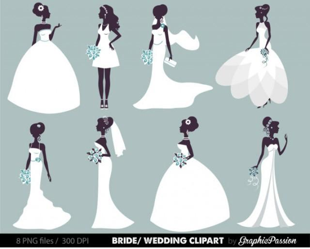 Bride and groom clipart blush & mint clipart jpg library library Wedding Clipart, Bridal Clipart, Bride Clipart, Digital Bride Groom ... jpg library library