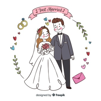 Bride and groom clipart blush & mint clipart picture free stock Wedding Background Vectors, Photos and PSD files | Free Download picture free stock