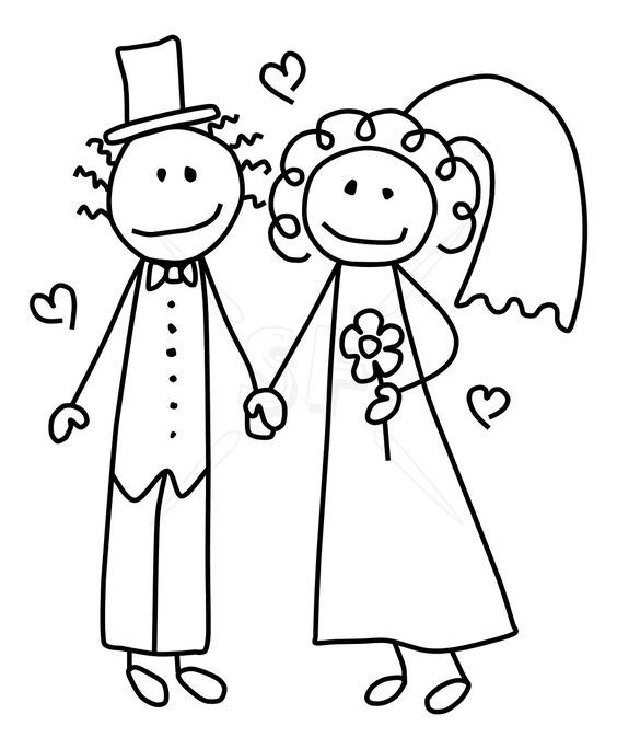 Bride and groom clipart kid banner free stock Bride and groom clipartcute bride groom stick figures clip art ... banner free stock