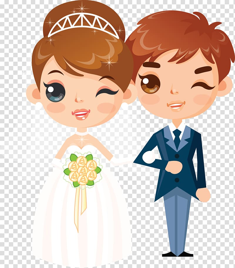 Bride and groom clipart kid picture freeuse library Wedding invitation couple , bride and groom transparent background ... picture freeuse library