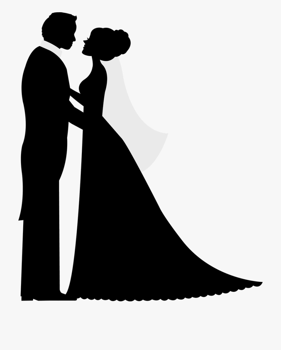 Bride and groom clipart silhouette clip royalty free Bride And Groom Silhouette, Wedding Illustration, Wedding - Bride ... clip royalty free