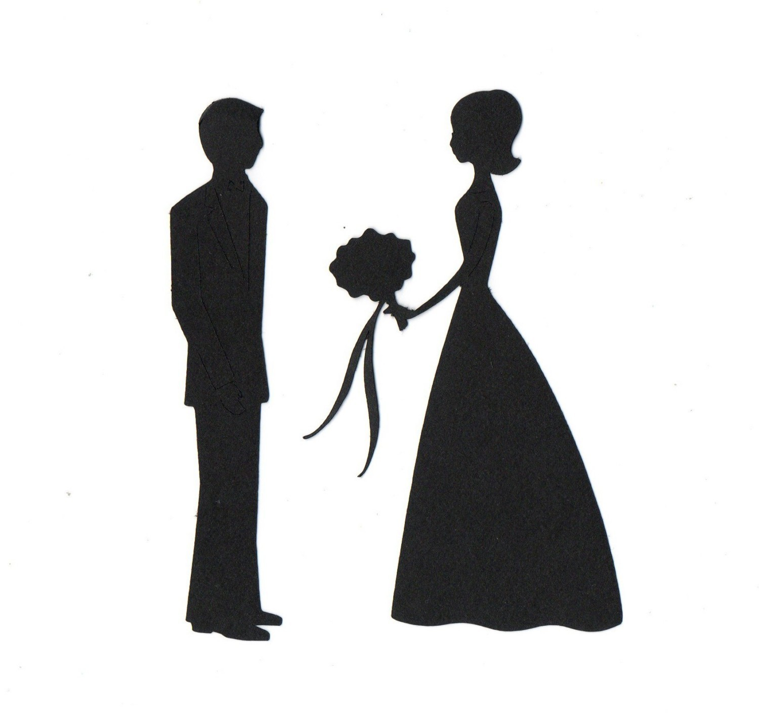 Bride and groom clipart silhouette royalty free stock Free Bride And Groom Art, Download Free Clip Art, Free Clip Art on ... royalty free stock