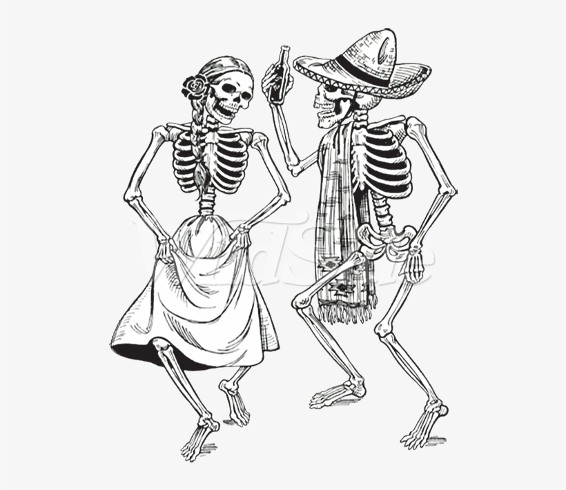 Bride and groom grateful deaddancing bear clipart transparent Dancing Skeletons -day Of The Dead - Day Of The Dead Dancing ... transparent