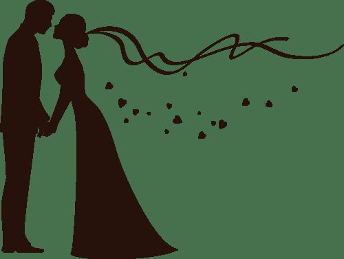 Bride and groom kissing clipart clip art black and white library Bride and groom kissing clipart png 3 » Clipart Portal clip art black and white library