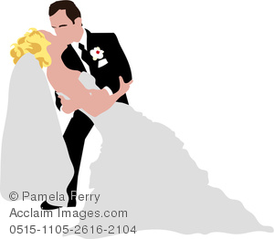 Bride and groom kissing clipart png free download Clip Art Image of a Groom Kissing His Bride Passionately png free download
