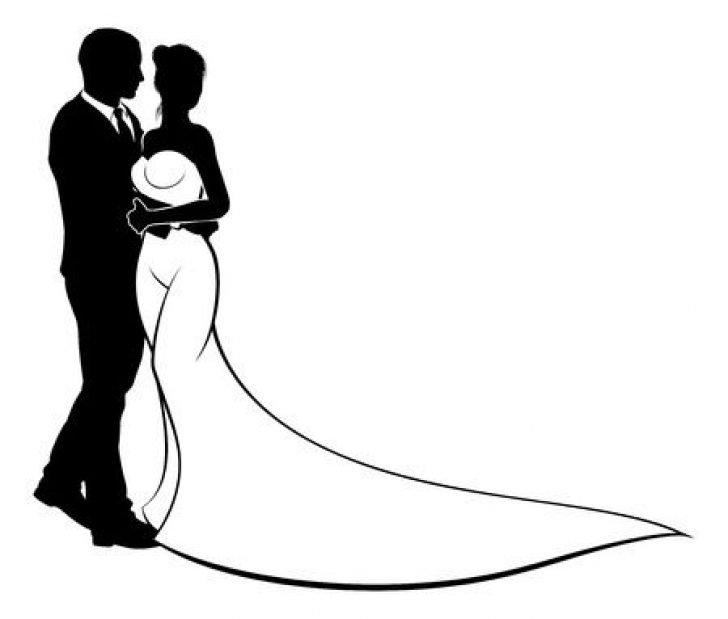 Bride and groom kissing clipart banner freeuse silhouette bride and groom kiss clip art | www.thelockinmovie.com banner freeuse