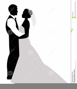 Bride and groom silhouette free clipart svg freeuse stock Free Clipart Bride And Groom Silhouette | Free Images at Clker.com ... svg freeuse stock