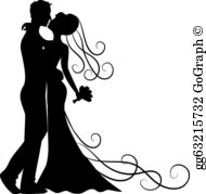 Bride and groom images clipart vector library download Bride Clip Art - Royalty Free - GoGraph vector library download