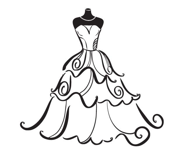 Bride clipart free clip art transparent download Wedding Dress Clipart Free - ClipArt Best | Patterns | Wedding clip ... clip art transparent download