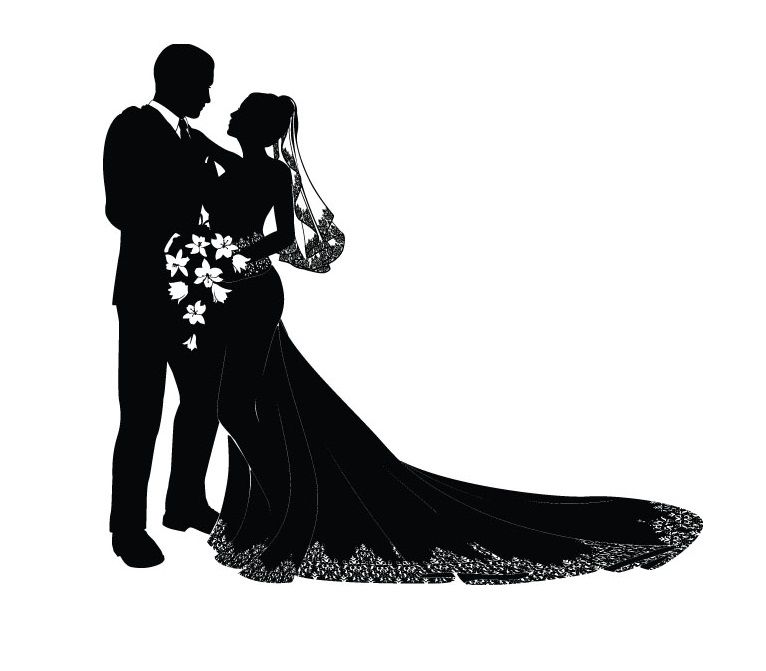 Bride and groom silhouette free clipart clip download Free Vector Bride And Groom Photograpy: Vector Bride And Groom ... clip download
