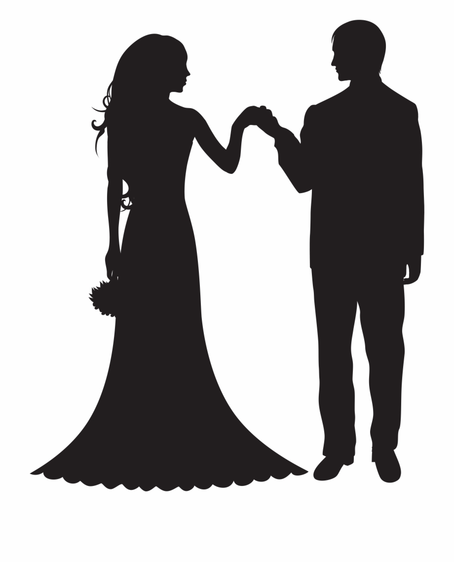 Bride and groom silhouette free clipart free library Bride And Groom Silhouette Clip Art Free PNG Images & Clipart ... free library